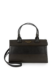 Halston Leather Doctor Bag Mahogany