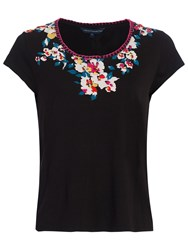 French Connection River Daisy T Shirt Black