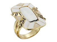 House Of Harlow Nile Delta Cocktail Ring Howlite Ring Silver