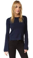 Autumn Cashmere Bell Sleeve Sweater Navy