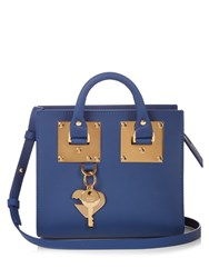 Sophie Hulme Albion Box Leather Cross Body Bag Blue