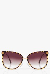 Boohoo Retro Oversized Sunglasses Brown