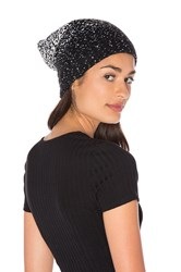 Plush Ombre Dot Beanie Black And White