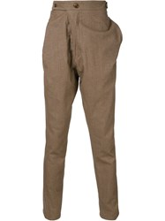 Vivienne Westwood Man 'Alcoholic' Trousers Brown