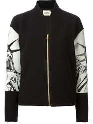 Fausto Puglisi Statue Of Liberty Bomber Jacket Black