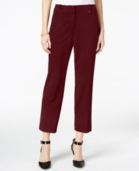 Styleandco. Style Co. Slim Fit Cropped Pants Only At Macy's Deep Scarlet