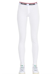 Moschino Underwear Ribbed Cotton Leggings