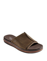 Tommy Bahama Jareth Leather Open Toe Sandals Brown