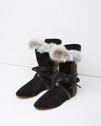 Isabel Marant Nia Flat Boot Black