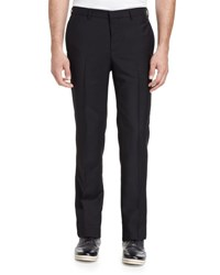 Givenchy Chain Trim Flat Front Trousers Black