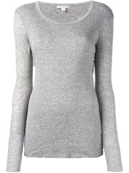 James Perse Round Neck Pullover Grey