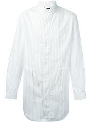 3.1 Phillip Lim Pinstripe Shirt Jacket White