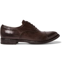 Officine Creative Anatomia Leather Oxford Shoes Brown