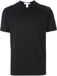 Comme Des Garcons Shirt Cutout Shoulder Detail T Shirt Black