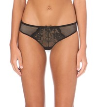 Bluebella Vivienne Lace Thong Black