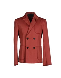 Christian Pellizzari Suits And Jackets Blazers Men Brick Red