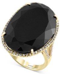 Effy Collection Eclipse By Effy Onyx 14 9 10 Ct. T.W. And Diamond 1 3 Ct. T.W. Ring In 14K Gold