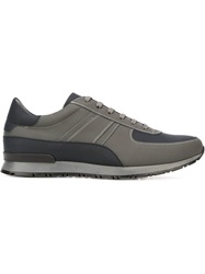 Canali Panelled Lace Up Sneakers Grey