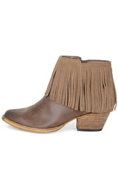 Alice And You Cowboyfringed Ankle Boot Brown