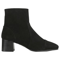 Whistles Bixa Mod Style Ankle Boots Black Suede