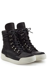 Balmain Leather Sneakers Black