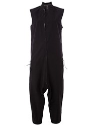 Boris Bidjan Saberi Zipped Sleeveless Onesie Black