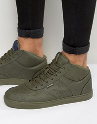 Jack And Jones Dunc Mid Trainers Green