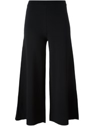 Theory Flared Cropped Trousers Black