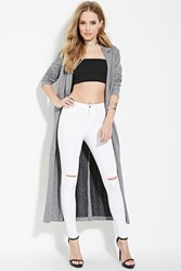 Forever 21 Ripped Mid Rise Jeans White