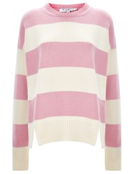 Vivetta Pink Striped Wool Blend Jumper Multi