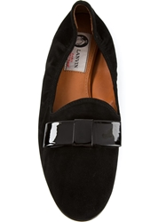 Lanvin Bow Slippers Black