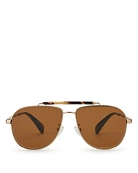 Toms Booker Aviator Sunglasses Yellow Gold