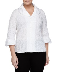 Go Silk Crinkle Stitched Stretch Poplin Shirt White
