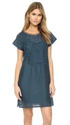 Twelfth St. By Cynthia Vincent Embroidered Dress Petrol