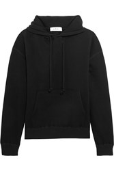 Iro Anja Rubik Onassis Cotton Jersey Hooded Top Black