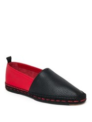 Fendi Two Tone Leather Espadrilles Red Yellow