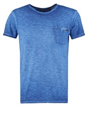 Japan Rags Nesi Basic Tshirt Estate Blue Mottled Blue