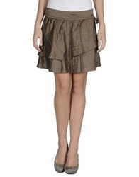 Liu Jo Knee Length Skirts Khaki