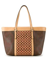 Etro Large Shopping Bag Brown