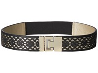 Ivanka Trump 42Mm Stretch Belt With Peekaboo Perf Black Women's Belts