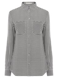 Oasis Stripe Shirt Black White