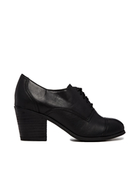Blink Heeled Lace Up Shoes Blackpu