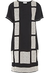 Day Birger Et Mikkelsen Motivi Embroidered Crepe Mini Dress Black