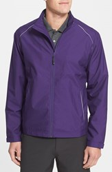 Men's Big And Tall Cutter And Buck 'Weathertec Beacon' Water Resistant Jacket College Purple