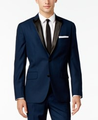 Inc International Concepts Men's Customizable Tuxedo Blazer Only At Macy's Navy Slim Peak Lapel Blazer