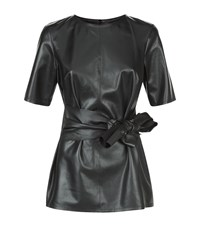 Escada Latop Leather Top Female Black