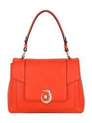 Trussardi Icon Grained Leather Top Handle Bag