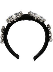 Dolce And Gabbana Embellished Hair Band Black