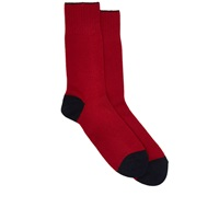 Barneys New York Mid Calf Socks Red