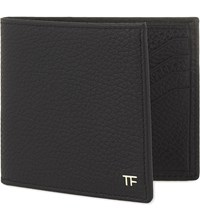 Tom Ford Grained Leather Double Sided Card Holder Black 2